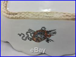 French ITALIAN Antique FAIENCE Platter Cherubs Griffons Angels Coat Of Arms