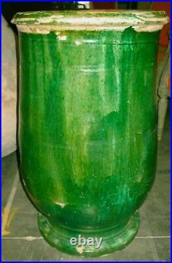 French Stoneware Pot Antique Pottery Jaspe Confit Earthenware Faience Pitcher