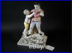 French Strassburg Faience Figural Group Bird Nesters Paul Louis Cyffle 19th C