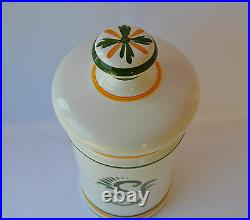 French Vintage Apothecary Pharmacy Jar Clamecy Roger Colas Faience Cera Alba