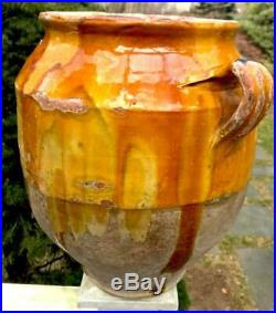 Ironstone French Confit Antique Pottery Redware Glaze Pitcher Conscience Faience