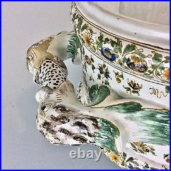 Large 19th Jardiniere Planter Moustiers Paris Samson Faience Ceramic Majolica