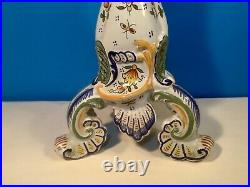 Large Antique French Faience Rouen Candle Holder, c. 1800's