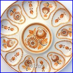 Large Henriot Quimper Oyster Plate 13 Autumn Fall Thanksgiving Table Faience