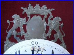 Late 18thc French Faience Dial Iron Framed Lantern Clock #2
