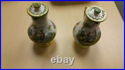 Lille 1767 French Faience Hand Painted Antique Serving set E. Duc
