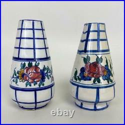 Lot 8 Pcs Antique Malicorne Quimper French Faience Pottery Candlesticks Figures