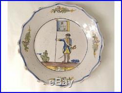 Lot d'assiettes faïence antique french XXème siècle