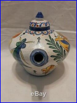Lovely Rare Antique CA French Faience Small Cruchon Pot Tea Pot