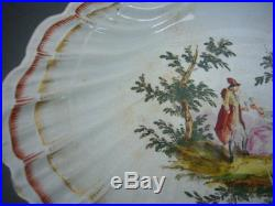 Marseille Faience Gaspard Robert Bowl Charger Like A Scallop Shell