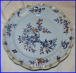 Mint Antique French Gallé Nancy Faience Earthenware Dish C. 1909