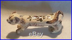 Moustiers Fait Main French faience vintage Art Deco antique cat figurine