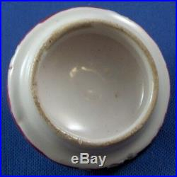 Nice Antique 18thC French Faience Puce Flowers Teapot Porcelaine Tea Pot France