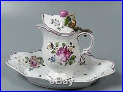 Old 19C Joseph Gasparo Marseilles French Faience or Majolica Syrup Pitcher PT
