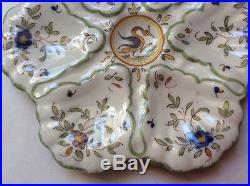 Oyster Plate Antique French Faience Majolica Oyster Plate, op231