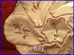 Oyster Plate Authentic Antique Oyster Plate French Majolica Faience, op497