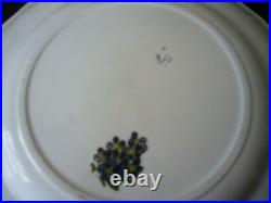 PAIR OF PLATES DISHES FAIENCE MARSEILLE VEUVE PERRIN SAVY 19ct