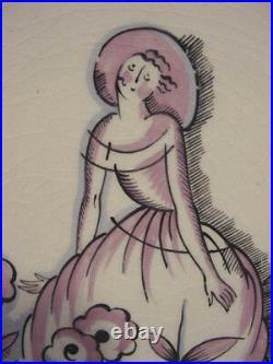 PRIMAVERA France Antique ART DECO 4 Seasons PLATES c1925 Gio Ponti Lovely Set