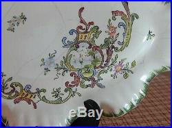 Plat Faience Marseille/ Veuve Perrin 18 Eme Siecle Antique French