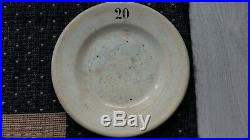 RARE ANTIQUE French SUGAR for ABSINTHE PLATE 20 cents marked FAÏENCE DIGOIN