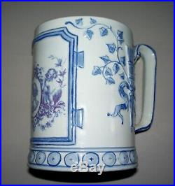 Rare Antique French Faience Gien Cup, Mug, Tankard perfect