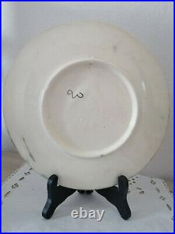 Rare Antique French Handmade Majolica Plate, Optical Illusion Sculpture Pear