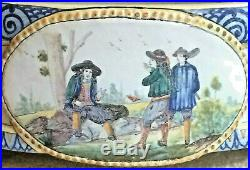 Rare Antique French Quimper Majolica Faience Jardiniere! Marked Hb Only, 19th C