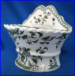 Rare Bough Pot French Faience Pottery Antique Flower Wall Vase 19C