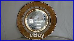 Rare Chinoiserie Antique French Lustre Ware Transferware Plate Chinese Themes