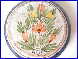 Secouette faïence Quimper montre fleur antique french XIXème siècle