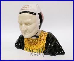 Signed Antique French Faience Quimper Pottery Old Breton Nursemaid Bust Porson