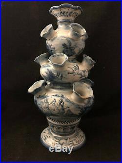 Tulipier XVIII ème Siècle Delft Faience Antique French Flowers 18th Vase