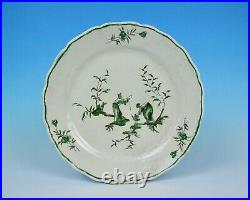 UNUSUAL ANTIQUE 19th C. VEUVE PERRIN FRENCH MARSEILLE CHINOISERIE FAIENCE PLATE