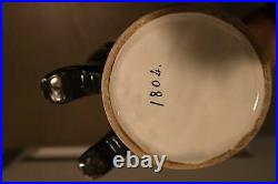 VERY RARE ANTIQUE French Faience Admiral General Napoleon Toby Mug Jug Drum 12