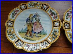 VINTAGE TWO PLATES FRENCH FAIENCE HENRIOT QUIMPER circa 1930s