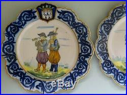 VINTAGE TWO PLATES FRENCH FAIENCE HR QUIMPER circa 1920s