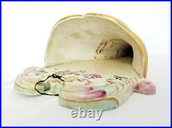 Veuve Perrin Faience Antique French Pottery Wall Pocket Antique French Porcelain