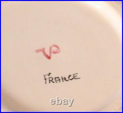 Veuve Perrin Seau A Bouteille French Faience Lunch Plate Vp Antique
