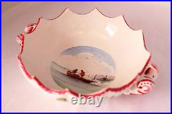 Veuve Perrin Seau A Bouteille French Faience Soup Bowl Vp Antique