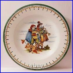 Vintage Antique French Victorian Faience Portrait Charger Plate 16