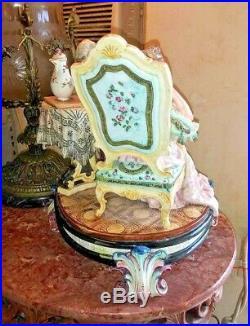 Vintage Austrian Meissen Style Faience Grouping, XIX C