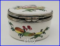 Vtg c1770 Veuve Perrin Marseille French Antique Hand Painted Faience Inkwell